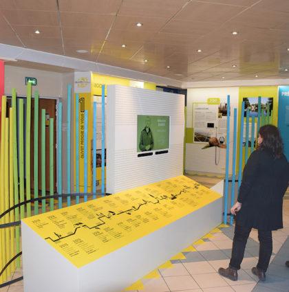 Scénographie d'exposition Mairie d'Olivet